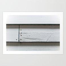 Weatherboards Art Print