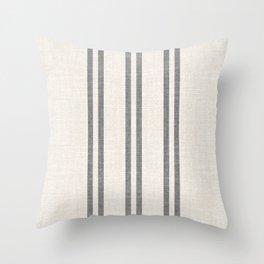 AEGEAN GREY STRIPE Throw Pillow