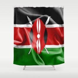 Kenya Flag Shower Curtain