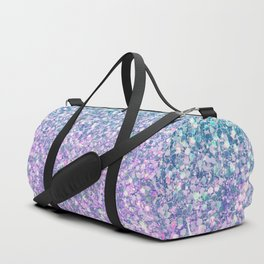 Blue & Lilac Mermaid Glitter Ombre Duffle Bag
