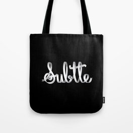 Subtle Tote Bag