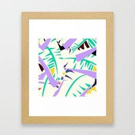 Memphis banana leaves Framed Art Print