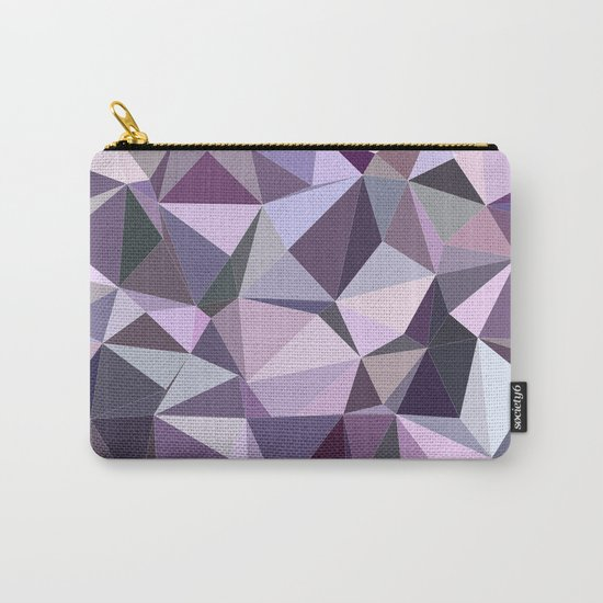 Happy purple triangles Carry-All Pouch