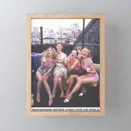Girls the City Framed Mini Art Print