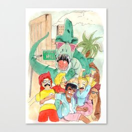 Denver l'affamé dinosaure / Denver the hungry dinosaur Canvas Print