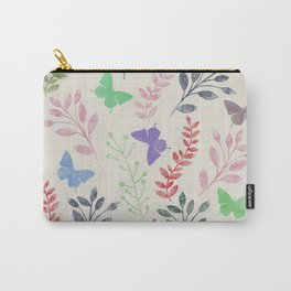 Watercolor flowers & butterflies Carry-All Pouch