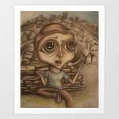 Boy on the Hill Art Print