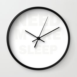 New Mom and Dad Sleep Deprived Design Wall Clock