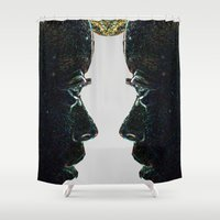gemini Shower Curtains featuring GEMINI by Rissarae Designs