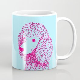 Poodle (Light Blue and Hot Pink) Coffee Mug