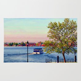 Water taxi in Baltimore Rug