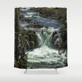 Steelhead Falls Vertical Shower Curtain