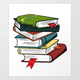 Magic Books Pile Art Print