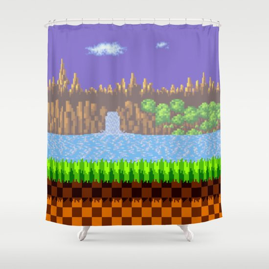 Green Hill Shower Curtain