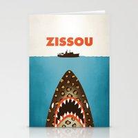 steve zissou Stationery Cards featuring Zissou by Wharton
