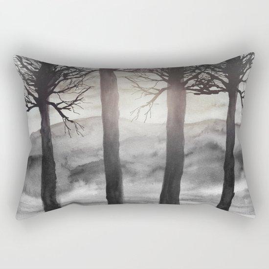Grateful Love Song B&W Rectangular Pillow