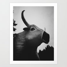 Babe the Blue Ox Art Print