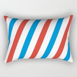 Barber shop stripes (red white blue) Rectangular Pillow