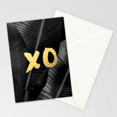 XO gold - bw banana leaf Stationery Cards