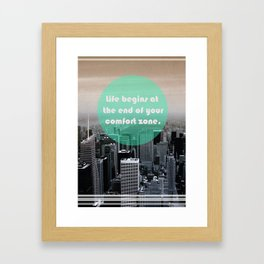 Life Begins  Framed Art Print