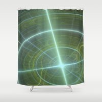 compass Shower Curtains featuring Compass by C Juarez