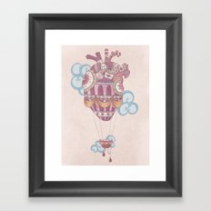 Light at heart (come fly with me) Framed Art Print