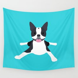 boston terrier Wall Tapestry