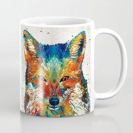 Colorful Fox Art - Foxi - By Sharon Cummings Coffee Mug