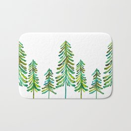 Pine Trees – Green Palette Bath Mat