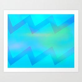 Teal Wave Art Print