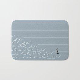 Surf Lines - Gray Bath Mat