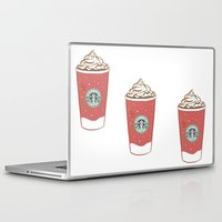 starbucks Laptop & iPad Skins featuring Christmas Design Starbucks  by swiftstore