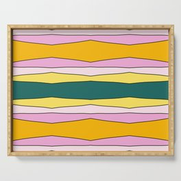 Colorful Striped Design Lines Serving Tray