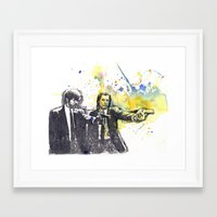 pulp fiction Framed Art Prints featuring Pulp Fiction by idillard