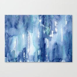 Blue vibes #2 || watercolor Canvas Print