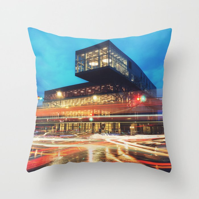 Motion at the Library Throw Pillow