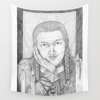loki Wall Tapestries featuring Loki by Brandy Woods