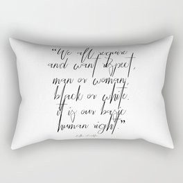 Aretha Franklin quote Rectangular Pillow