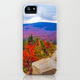 Brilliant Fall Colors at Ira Mountain in Kingfield, Maine (1) iPhone Case