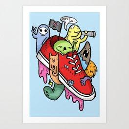 shoe pirates Art Print
