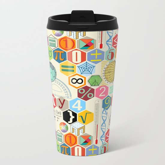 Math in color Metal Travel Mug