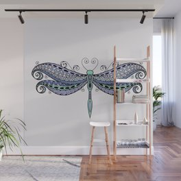 Dragonfly dreams purple Wall Mural
