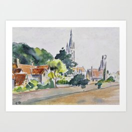 Camille Pissarro - All Saints' Church, Beulah Hill - Digital Remastered Edition Art Print