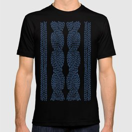 Cable Row Navy 1 T-shirt