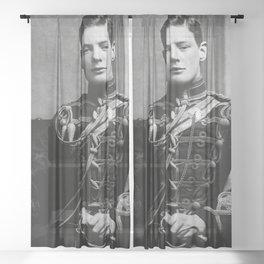Winston Churchill, 1895 black and white portrait photograph Sheer Curtain