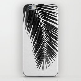 Palm Leaf Black & White I iPhone Skin