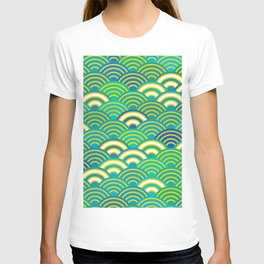 abstract scales simple Spring Nature background with japanese circle T-shirt