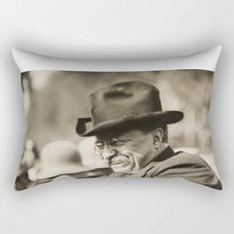 Teddy Roosevelt Smiling in Automobile Rectangular Pillow