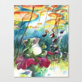 Frog Sage Canvas Print