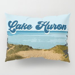 Lake Huron Retro Pillow Sham
